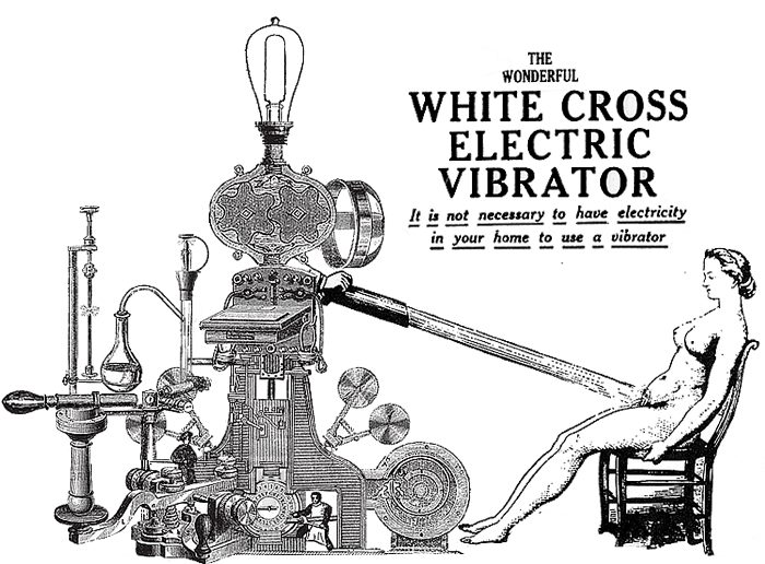 The wonderful White Cross Electric Vibrator